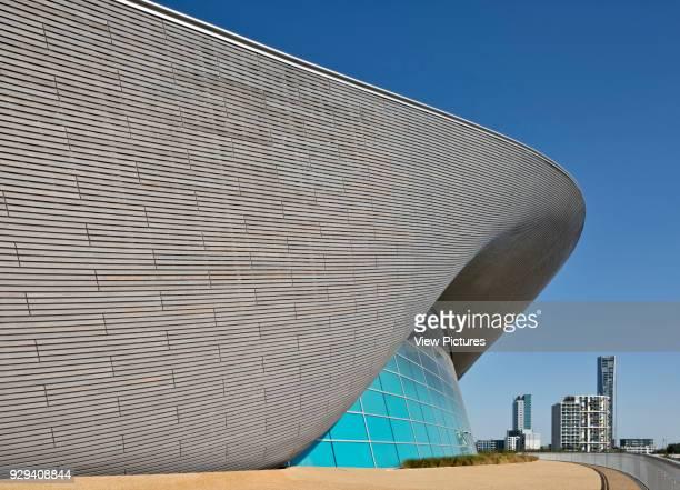 London Aquatics Centre, designed by architect Zaha Hadid in the Queen Elizabeth Olympic Park.