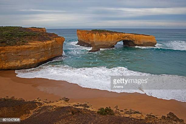 London Arch formerly London Bridge is an offshore natural arch formation in the Port Campbell National Park Australia