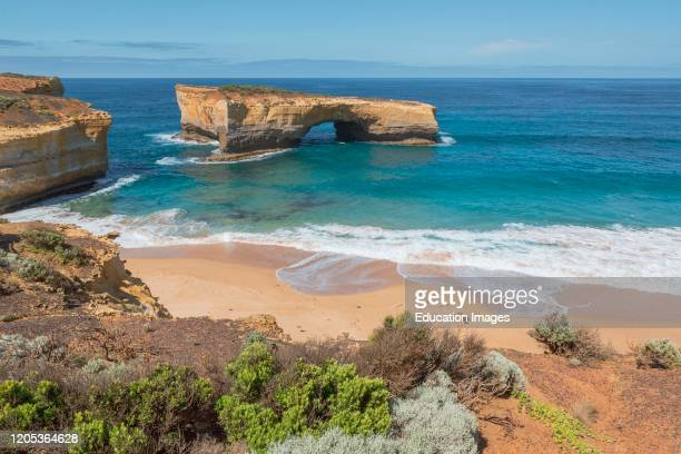London Arch in the Port Campbell National Park Great Ocean Road Victoria Australia The landmark was formally known as London Bridge but in 1990 the...