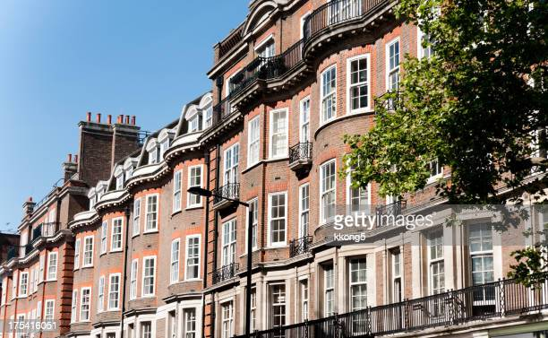 london architecture: classic brick residential buildings