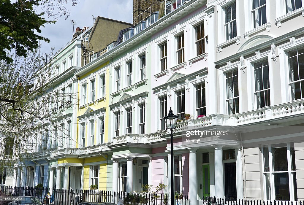 London Architecture Classic Townhouses In Primrose Hill Stock Photo