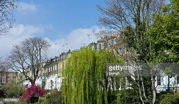 london architecture: residential buildings along the canal