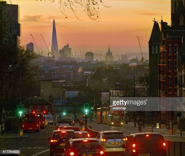london archway dawn - highgate stock pictures, royalty-free photos & images