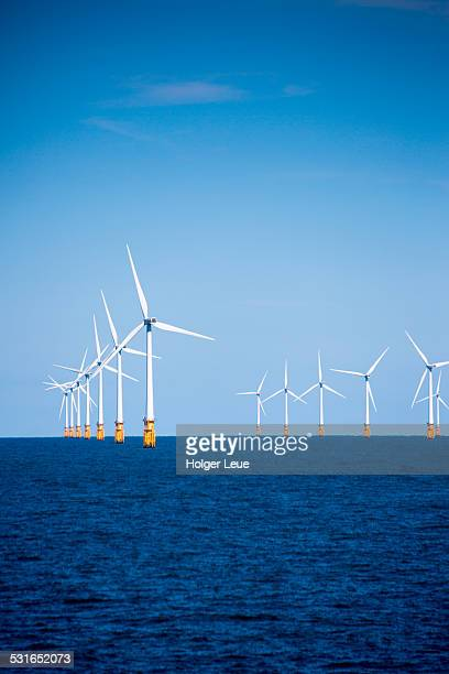 london array offshore wind park in north sea - wind stock pictures, royalty-free photos & images