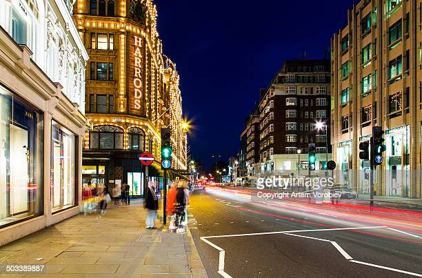 London at night, Knightsbridge