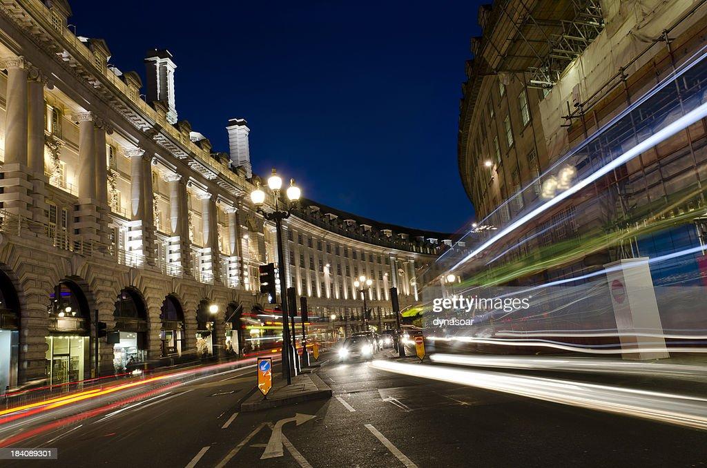 London at night, Regent Street : Stock Photo