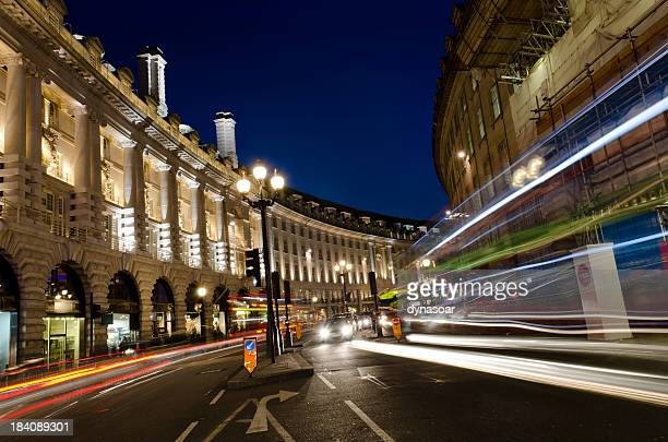 London at night, Regent Street