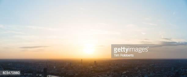 London at sunset.