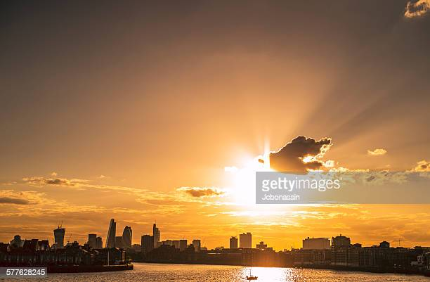 london at the sunset - jcbonassin stock pictures, royalty-free photos & images