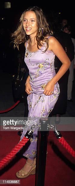 London August 26th 1998 Scarlett Johansson at Mirabelle Restaurant party for the film The Horse Whisperer
