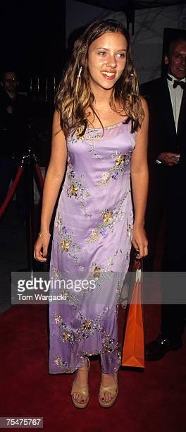 London August 26th 1998 Scarlett Johansson at Mirabelle Restaurant party for the film The Horse Whisperer in London United Kingdom