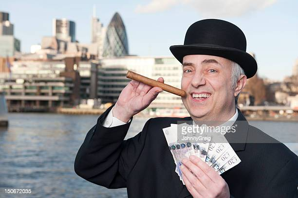 london banker's bonus - millionnaire stock photos and pictures