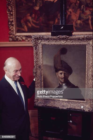 London Based Art Dealer Edward Speelman Pictured With A