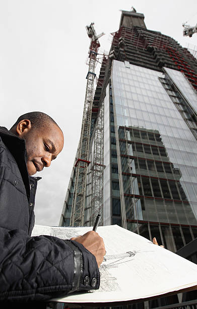 Artist Stephen Wiltshire Completes A Drawing Of The Shard