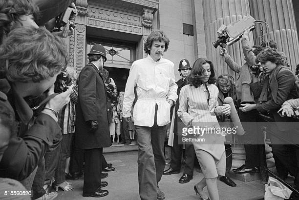 Beatle George Harrison And His Wife Olivia Arrias Arrive At A London Registrars Office 4