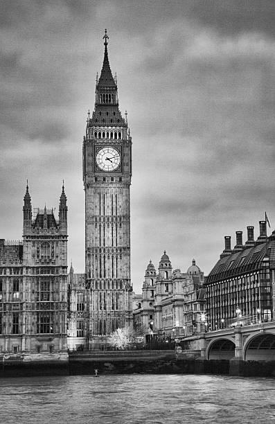 London, Big Ben, Black And White Wall Art