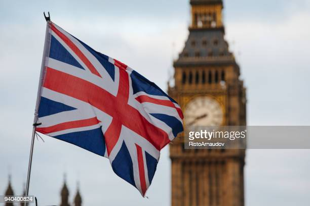 london big ben westminster - british flag stock pictures, royalty-free photos & images