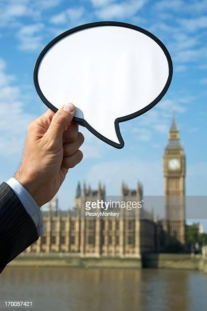 London Big Ben avec vide Bulle de dialogue
