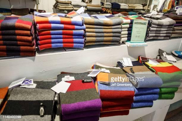 London Bloomsbury Highland Store Scottish Shop scarf display
