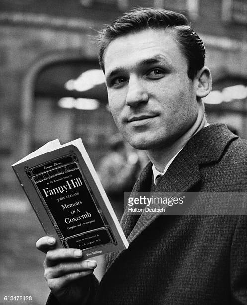 London book distributor John Gold with a copy of Memoirs of a Coxcomb during a court case in which he objected to his stock of the novel 'Fanny Hill'...