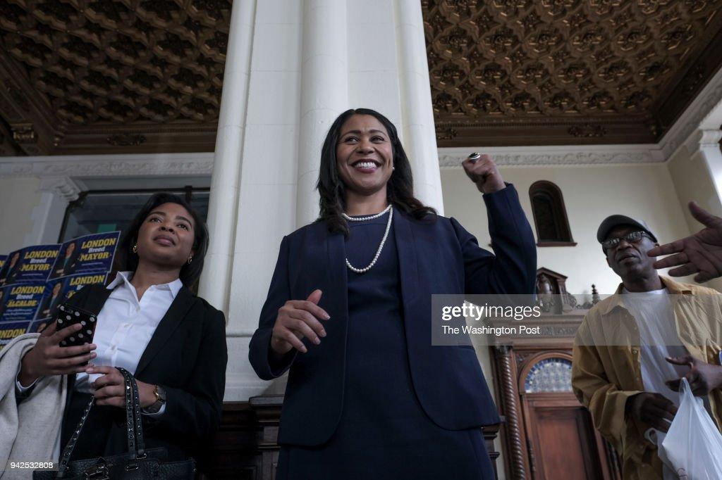SAN FRANCISCO, CA - MARCH 8: London Breed, candidate for San Fr : Fotografía de noticias