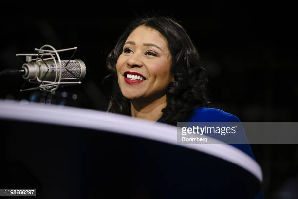 London Breed mayor of San Francisco speaks during a Bloomberg radio interview in San Francisco California US on Tuesday Feb 5 2020 Mike Bloomberg the...