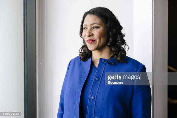 London Breed mayor of San Francisco stands for a photograph following a Bloomberg radio interview in San Francisco California US on Tuesday Feb 5...