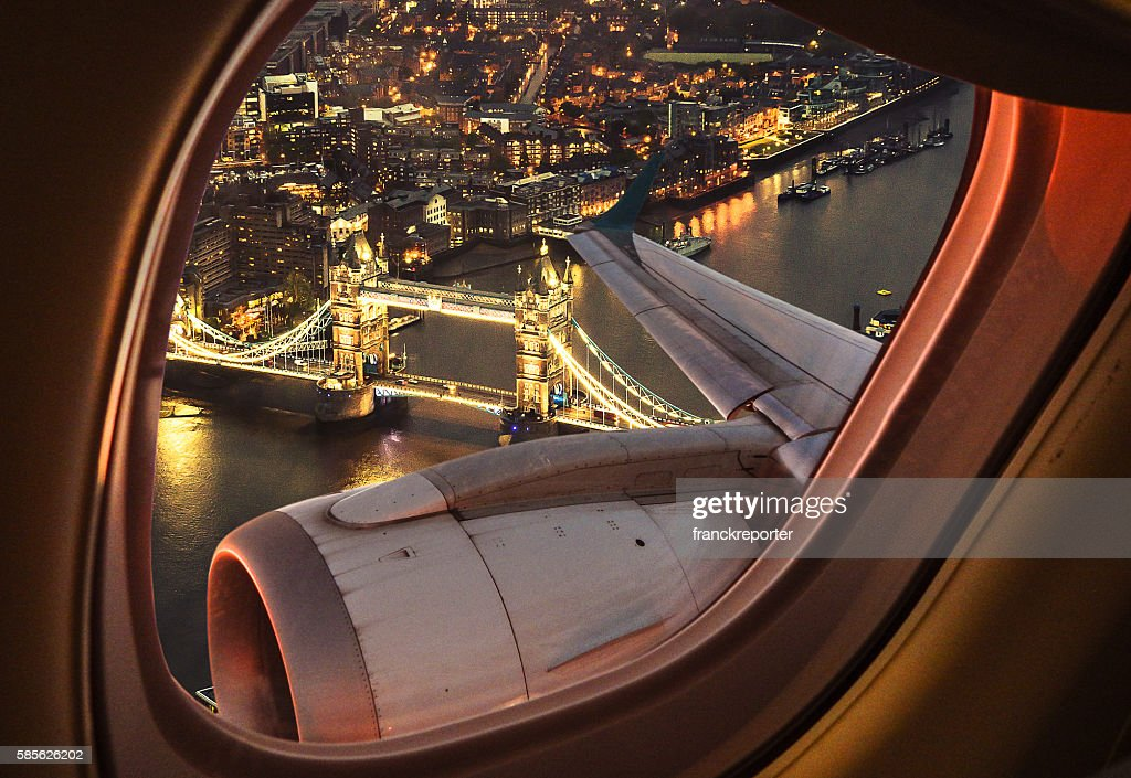 London bridge aerial view from the porthole : Stock Photo