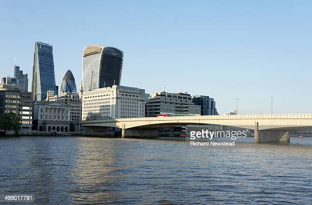 London Bridge and City Skyscrapers