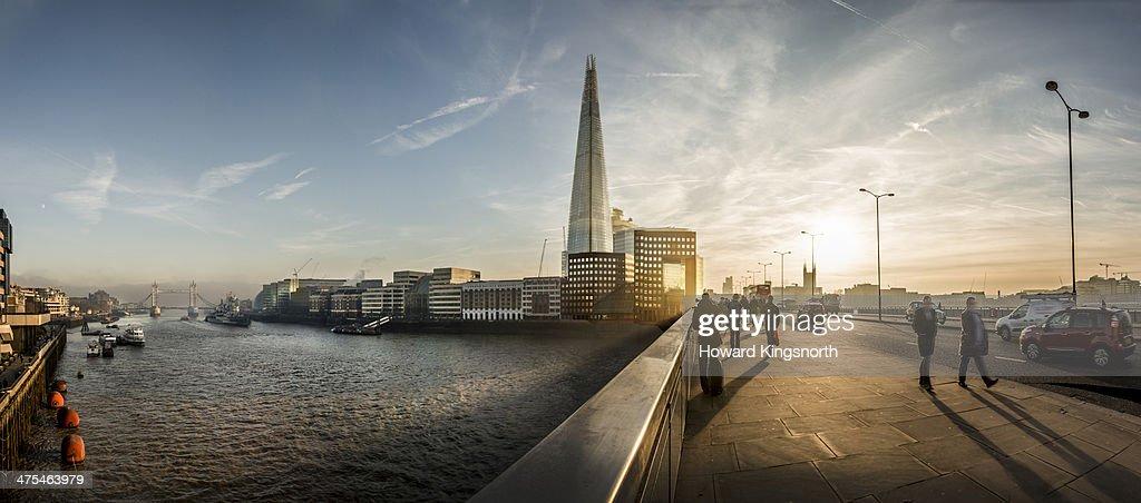 London Bridge and The Shard panorama : Stock Photo