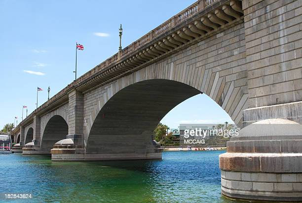 london bridge, lake havasu az - lake havasu stock photos and pictures