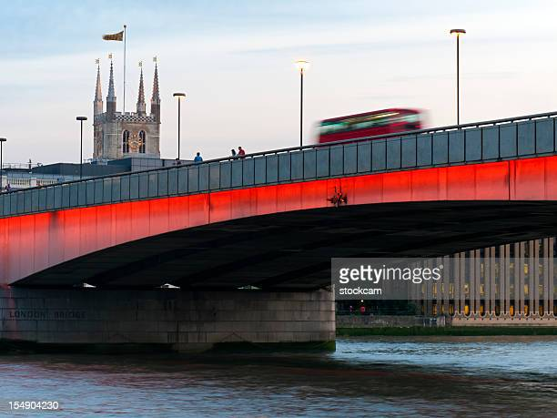 London Bridge over River Thames with bus