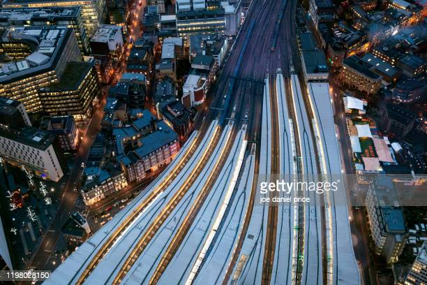 london bridge railway station, london, england - rail transportation stock pictures, royalty-free photos & images