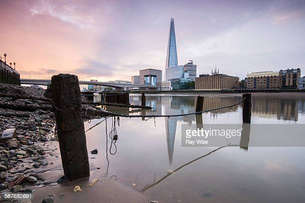 London Bridge Shard reflections at sunrise