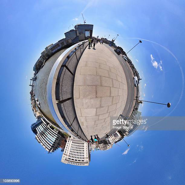 London bridge with little planet effect