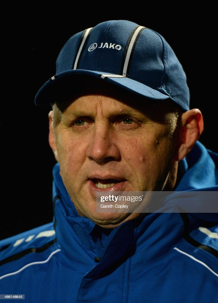 London Broncos coach Tony Rea during the pre season friendly between Leeds Rhinos and London Broncos at Headingley Carnegie Stadium on January 31, 2014 in Leeds, England.