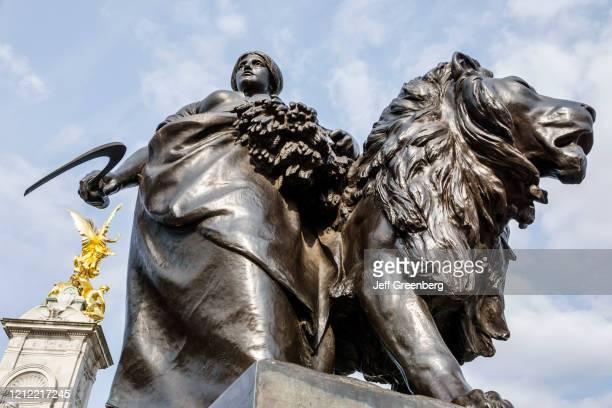 London, Buckingham Palace Victoria Memorial, Agriculture bronze sculpture.