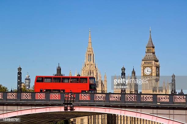 London bus and Big Ben