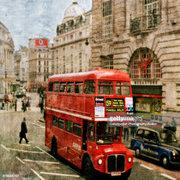 London bus in Piccadilly Circus London UK