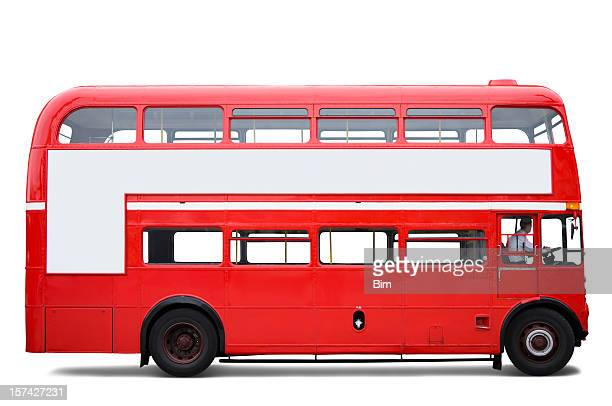 London Bus Isolated with Clipping Path