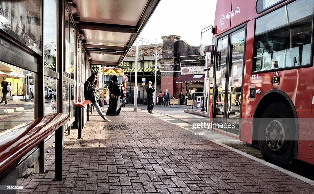 London Bus Station : Stock Photo