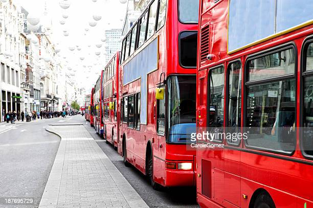 London Bus Traffic Jam