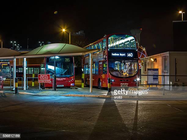 London buses at night