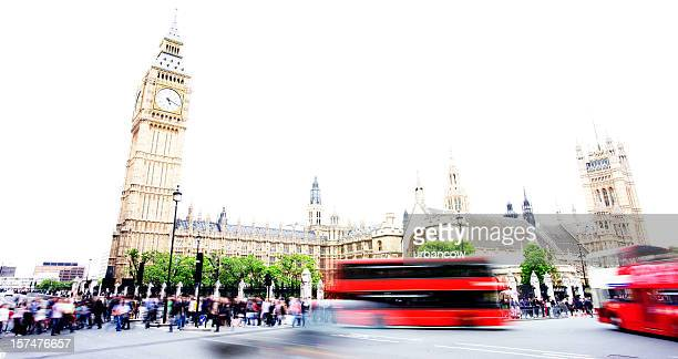 London buses at Westminster
