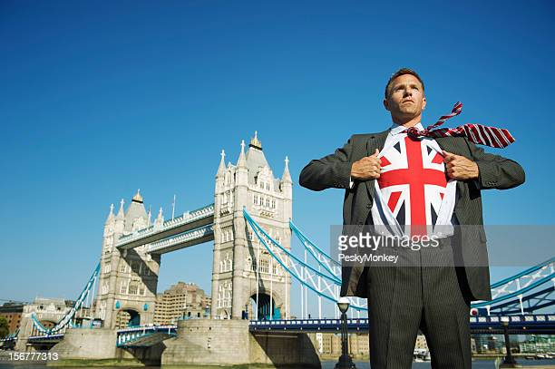 London Businessman Turns Superhero at Tower Bridge