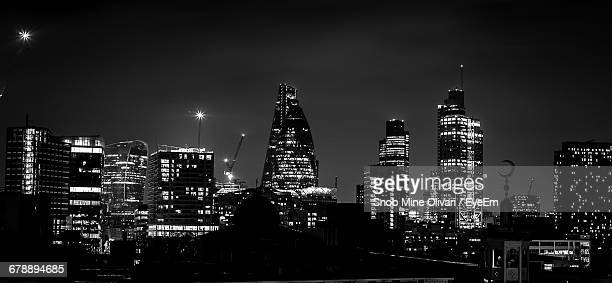 Black And White London Night Stock Photos Pictures