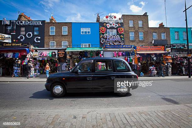London Cab driving through camden town