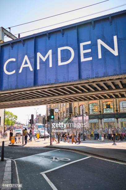 uk, london, camden town, overpass - camden london stock pictures, royalty-free photos & images