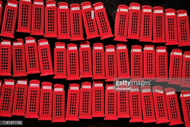 uk, london, camden town, telephone booth souvenirs - tradition stock pictures, royalty-free photos & images