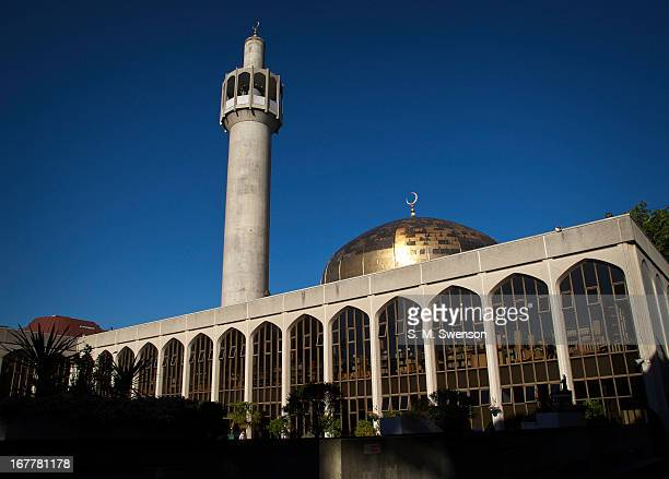 London Central Mosque off Regent's Park in London. Taken on a hot summer's sunny afternoon on June 26, 2011. The architect was Frank Gibberd. There...